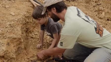 Un niño de 4 años descubrió un fósil de dinosaurio en Estados Unidos.