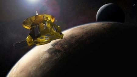 Captan la primera imagen en color de Plutón.
