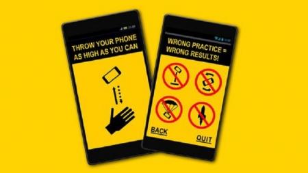Este juego te reta a lanzar tu móvil lo más alto posible, si te atreves.
