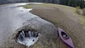 agujero lago