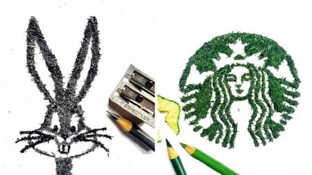 Arte con residuo de lápices.