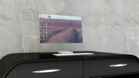 HTD-01: El monitor que se torna transparente cuando lo apagas.