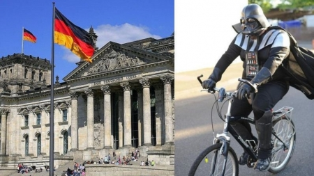 Darth Vader concientiza a ciclistas sobre uso del casco.