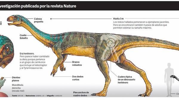 Exhiben en Argentina réplica de extraño dinosaurio herbívoro del sur de Chile.