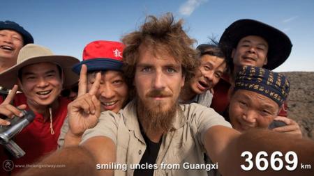 Mira la increíble transformación de este hombre, tras viajar 4.500km por China.