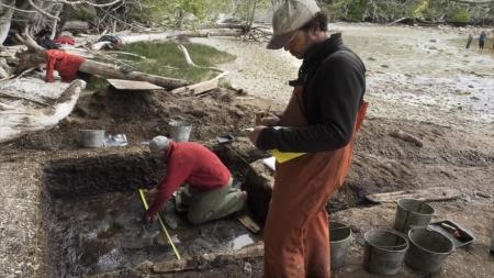 Descubren en Canadá huellas humanas de hace 13.000 años.