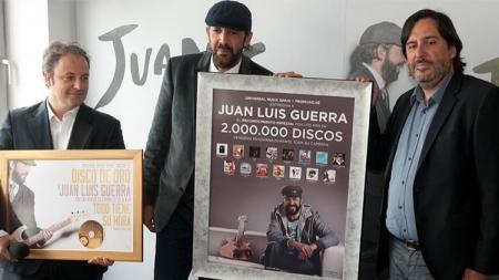¡DISCO DE ORO! PARA JUAN LUIS GUERRA