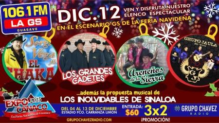 CARTELERA DE HOY EN LA EXPO NAVIDEÑA CANACO