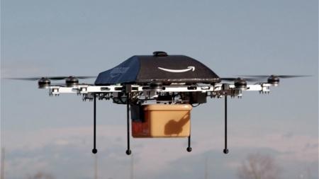AMAZON CREA DRONES PARA REPARTIR EN MENOS DE MEDIA HORA