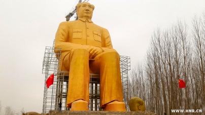 DESTRUYEN UNA ESCULTURA DE MAO EN EL CENTRO DE CHINA