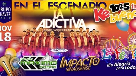 VIERNES 18 DE NOVIEMBRE, CARTELERA FERIA CANACO LOS MOCHIS