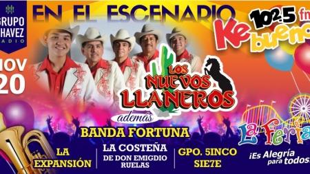 DOMINGO 20 DE NOVIEMBRE, CARTELERA FERIA CANACO LOS MOCHIS