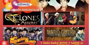 MIERCOLES 23 DE NOVIEMBRE, CARTELERA EN FERIA CANACO LOS MOCHIS ¡ÚLTIMO DIA!