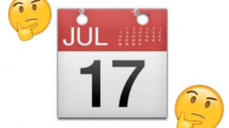 ¿PORQUÉ EL EMOJI DEL CALENDARIO MARCA EL 17 DE JULIO?
