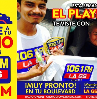 "LA GS 106.1 FM ¡TE VISTE ESTÁ SEMANA SANTA CON ""EL PLAYERAZO""!"
