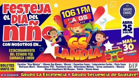 EL DÍA DEL NIÑO SE CELEBRA CON LA GS 106.1FM