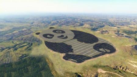 CONSTRUYERON UNA PLANTA SOLAR EN CHINA CON FORMA DE PANDA