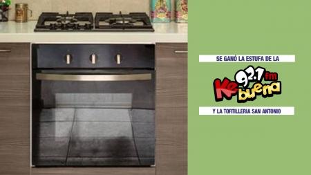 TORTILLERIA SAN ANTONIO Y LA KEBUENA 92.1FM RIFAN UNA ESTUFA