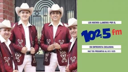 LOS NUEVOS LLANEROS EN ENTREVISTA POR EL 102.5FM