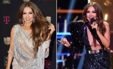"""Thalía brilla en """"Premios Lo Nuestro"""" con los vestidos más elegantes, enamora en redes"""