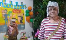 ABUELO CUMPLEAÑOS EN FIESTA TEMÁTICA DE «EL CHAVO»